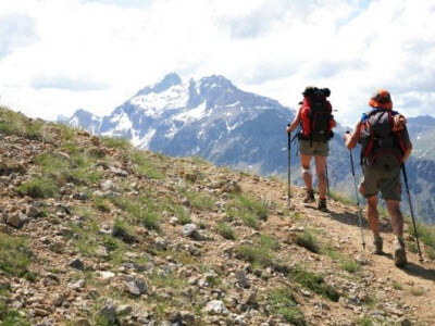 Walking in Briancon Mountains